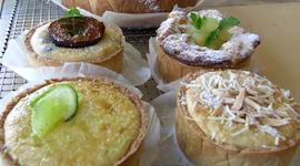 A selection of small tarts