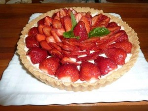 My favourite tart made with almond pastry